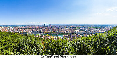 Lyon, France, panorama of the city