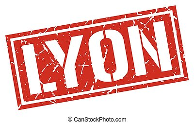 Lyon red square stamp