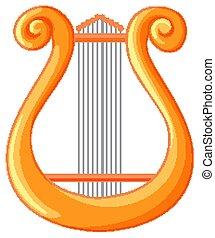 Lyre Greek classical music instrument