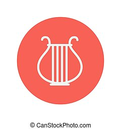Lyre thin line icon for web and mobile minimalistic flat ...