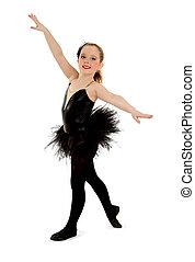 Lyrical Child Dancer in Black Recital Costume