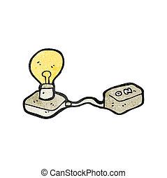 lys, cartoon, pære
