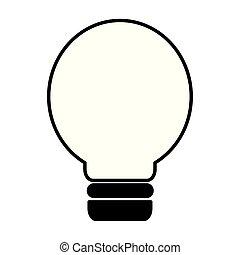 lys, energi, pære, magt, ikon
