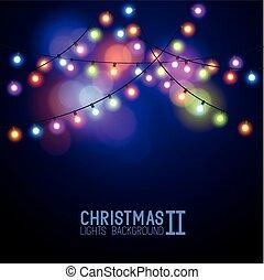 lys, glødende, jul