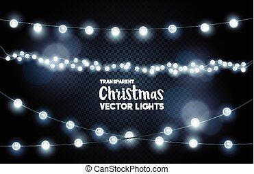 lys, glødende, sølv, samling, jul