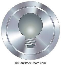 lys, knap, industriel, pære