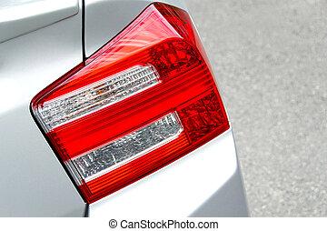lys tilbage, i, automobil