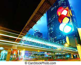 lys, trafik, byen