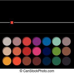 lysande, ögonskugga, pigment