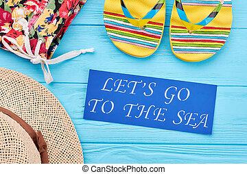 lysande, clothing., strand, inskrift