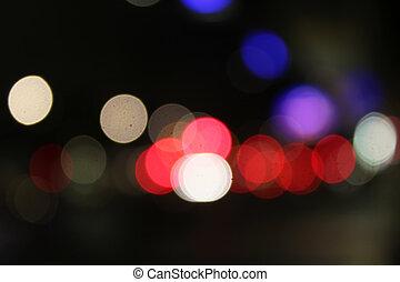 lysande, färgrik, abstrakt, bokeh