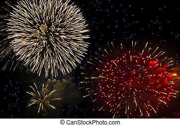 lysande, fireworks