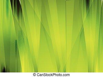 lysande, gröna abstrakta, grunge, stripes, bakgrund