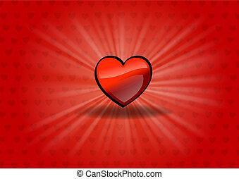 lysande, hjärta