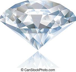 lysande, vektor, glänsande, diamond.