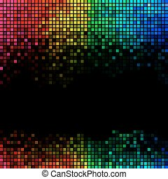 lyse, abstrakt, bakgrund, disko