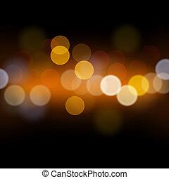 lyse, abstrakt, defocused, bakgrund, festlig
