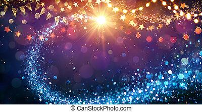 lyse, abstrakt, jul, bakgrund, festlig