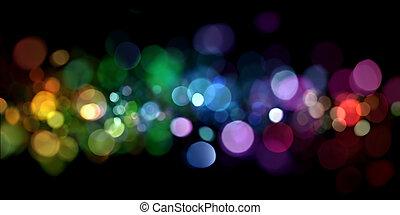 lyse, abstrakt