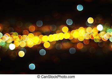 lyse, av, staden