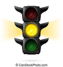 lyse, trafik