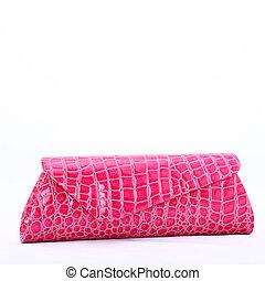 lyserød, clutch, bag
