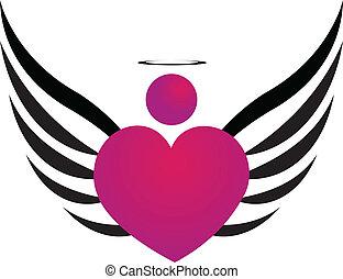 lyserød, engel