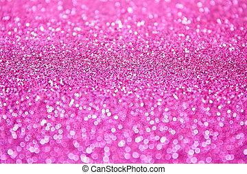 lyserød, glitre