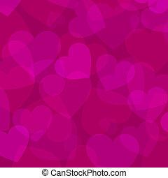lyserød, hjerte, abstrakt, baggrund