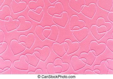 lyserød, hjerter