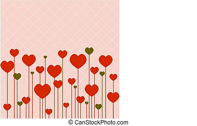 lyserød, hjerter, constitutions, baggrund
