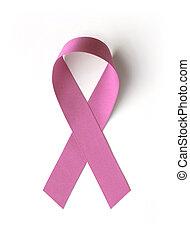 lyserød, kræft, bånd, awareness, bryst