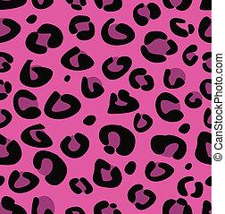 lyserød, leopard, seamless, tekstur