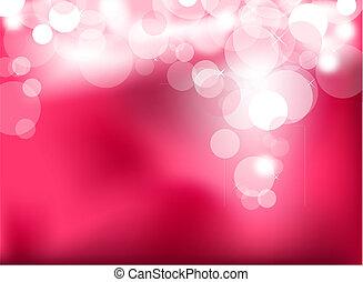 lyserød, lys, abstrakt, glødende