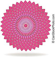 lyserød, mønster, abstrakt, blomst, logo