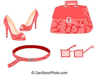 lyserød, mode, samling