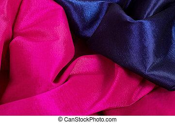 lyserød, og blå, fabric