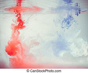 lyserød, og blå, inc