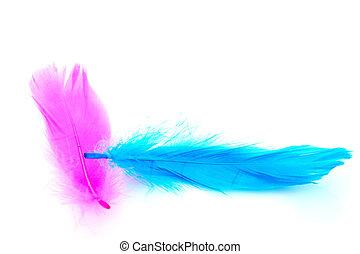 lyserød, og blå