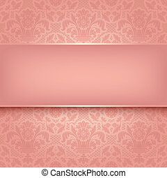 lyserød, ornamental, fabric, 10, eps, vektor, baggrund, ...