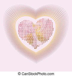 lyserød, pastel, sød, gul, farver, hjerter