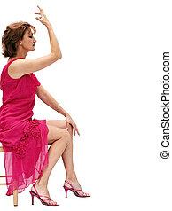lyserød, pige, klæde