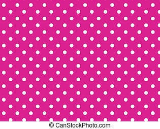 lyserød, prikker, polka, eps, vektor, 8