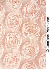 lyserød, teksturer, baggrund, baggrunde, tekstilet, roser, eller
