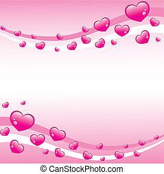 lyserød, valentines, baggrund