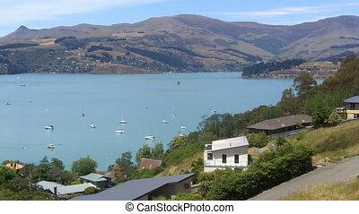 Lyttelton Harbour Christchurch - Landscape of Lyttelton...