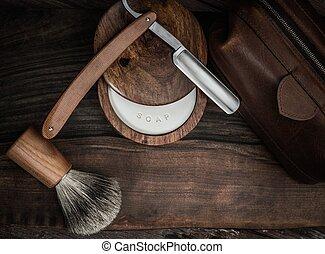 lyxvara, gulfilspån, bakgrund, trä, tillbehör