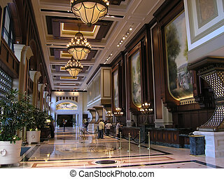 lyxvara, hotell foajé