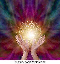 mágico, cura, energia