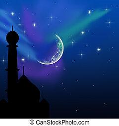 mágico, eid, noche